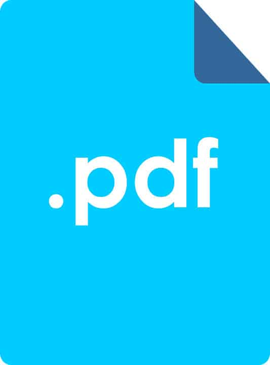 blue PDF button